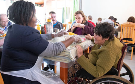 PRH offers specialised disabled care with 24/7 care givers and nursing staff on hand.